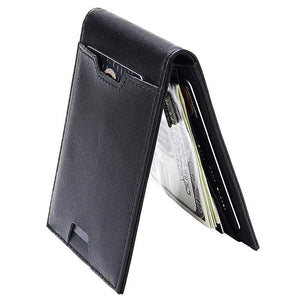 Oiko Store  Fashion Men Wallet Casual Multi-card Position Credit Card Holder Ultra Thin Coin Purse For Men Portable Bifold Male Clutch Bag
