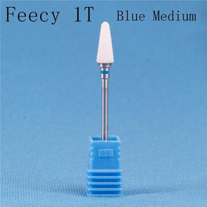 Oiko Store  Feecy 1T Blue M Milling Cutter For Manicure Ceramic Mill Manicure Machine Set Cutter For Pedicure Electric Nail Files Nail Drill Bit Feecy