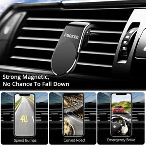 Oiko Store  FONKEN Magnetic Car Phone Holder Mount Stand Universal Air Vent Clip Mount for iPhone 11 Pro Max Huawei Xiaomi in GPS Navigation