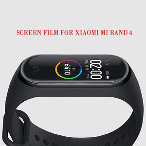 Oiko Store  For Xiaomi Mi Band 4 Screen Protector Soft Film For Xiaomi Mi Band 4 Smart Bracelet Accessories Full Screen Permeability Film