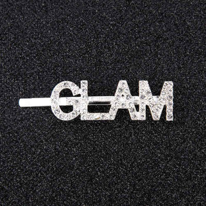 Oiko Store  GLAM 1Pc Shining Letter Hairpins Crystal Shiny Rhinestones Letters Hair Clips Women Styling Tool Hairgrip Diamond  Hair Accessories
