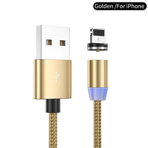 Oiko Store  Gold for iPhone / 1m YKZ Magnetic USB Cable for Huawei Samsung Type C Type-C Charging USB C Magnet Cable Micro USB Mobile Phone Cord Wire for iPhone