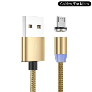 Oiko Store  Gold for micro / 1m YKZ Magnetic USB Cable for Huawei Samsung Type C Type-C Charging USB C Magnet Cable Micro USB Mobile Phone Cord Wire for iPhone