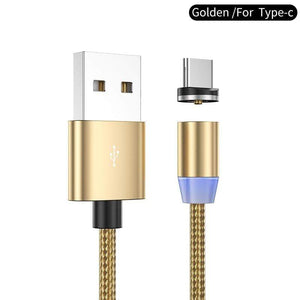 Oiko Store  Gold for type C / 1m YKZ Magnetic USB Cable for Huawei Samsung Type C Type-C Charging USB C Magnet Cable Micro USB Mobile Phone Cord Wire for iPhone