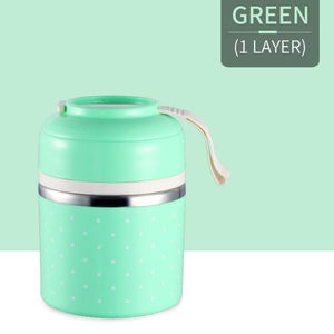 Oiko Store  Green 1 Layer FOODYBOX - LIMITED EDITION LUNCH BOX