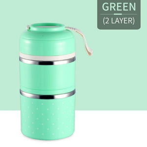 Oiko Store  Green 2 Layer FOODYBOX - LIMITED EDITION LUNCH BOX