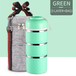Oiko Store  Green 3 With Bag FOODYBOX - LIMITED EDITION LUNCH BOX