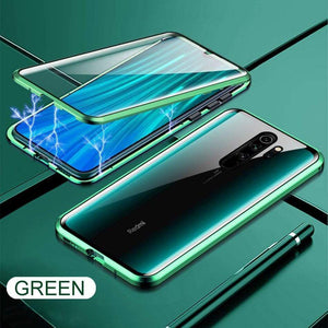 Oiko Store  Green / For Redmi 8 Metal Magnetic Double side Glass Phone Case For Xiaomi Redmi 8 8A Note 8 7 K20 Pro Phone Cover For Mi 9 9e 9T CC9e 6X Flip Case