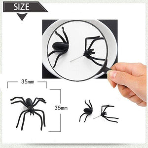 Oiko Store  Halloween Decoration 1Piece 3D Creepy Black Spider Ear Stud Earrings for Haloween Party DIY Decoration Home Decor