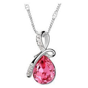 Oiko Store Hot Pink Ladies' Necklace - 10 Colors Austrian