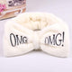 Oiko Store  Ivory 2019 New Letter OMG Headbands for Women Girls Bow Wash Face Turban Makeup Elastic Hair Bands Coral Fleece Hair Accessories