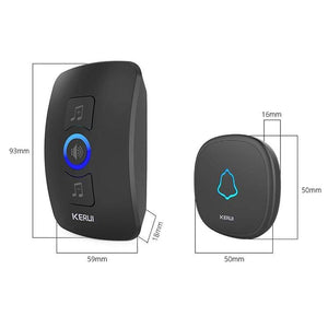 Oiko Store  KERUI M525 Home Security Welcome Wireless Doorbell Smart Chimes Doorbell Alarm LED light 32 Songs with Waterproof Touch Button