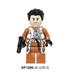 Oiko Store  KF1299 Without Box Building Blocks Wars Bricks Darth Vader Yoda Rey PoE Dameron Mandalorian Jango Fett Drabatan Figures For Children Toys KF6111