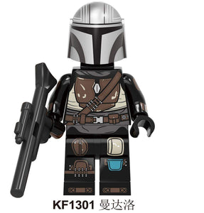Oiko Store  KF1301 Without Box Building Blocks Wars Bricks Darth Vader Yoda Rey PoE Dameron Mandalorian Jango Fett Drabatan Figures For Children Toys KF6111