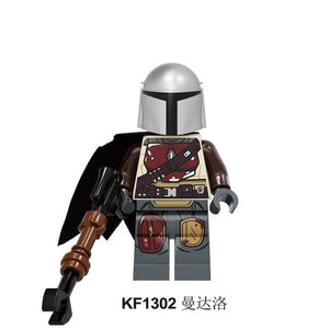 Oiko Store  KF1302 Without Box Building Blocks Wars Bricks Darth Vader Yoda Rey PoE Dameron Mandalorian Jango Fett Drabatan Figures For Children Toys KF6111