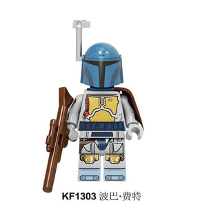 Oiko Store  KF1303 Without Box Building Blocks Wars Bricks Darth Vader Yoda Rey PoE Dameron Mandalorian Jango Fett Drabatan Figures For Children Toys KF6111