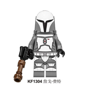 Oiko Store  KF1304 Without Box Building Blocks Wars Bricks Darth Vader Yoda Rey PoE Dameron Mandalorian Jango Fett Drabatan Figures For Children Toys KF6111