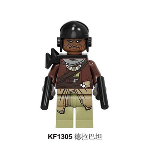 Oiko Store  KF1305 Without Box Building Blocks Wars Bricks Darth Vader Yoda Rey PoE Dameron Mandalorian Jango Fett Drabatan Figures For Children Toys KF6111