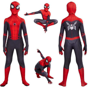Oiko Store  Kids Spider Man Far From Home Peter Parker Cosplay Costume Zentai Spiderman Superhero Bodysuit Suit Jumpsuits Halloween Costume