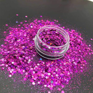 Oiko Store  Laser Rose Mixed KM GLITTER Top Popular Best Sales Chunky Mixed Fairy Face Body Craft Rose Sequins Manicure Rose Gold Glitter for Nail Decoration