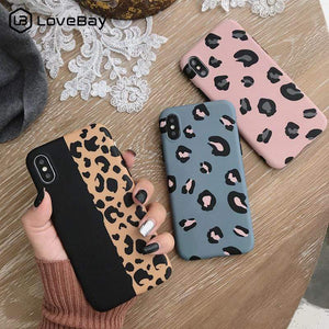 Oiko Store  Lovebay Leopard Print Phone Case Cover For Iphone XS Max XR X 8 7 6 6S Plus 11 Pro Luxury Soft Back Cases Colorful Fashion Shell