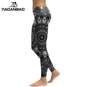 Oiko Store Mandala Flower 3D Printed Women Leggings