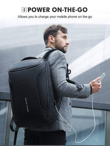 Oiko Store  Mark Ryden 2019 New Anti-thief Fashion Men Backpack Multifunctional Waterproof 15.6 inch Laptop Bag Man USB Charging Travel Bag