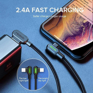 Oiko Store  MCDODO 3m 2.4A Fast USB Cable For iPhone 11 Pro XS MAX XR X 8 7 6s Plus 5 Charging Cable Mobile Phone Charger Cord Data Cable