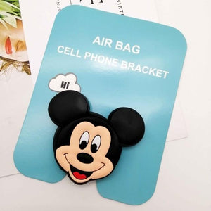 Oiko Store  Mickey Wholesale Socket Universal Mobile Phone Stretch Bracket Cartoon Air Bag Phone Expanding Phone Stand Finger Car Phone Holder