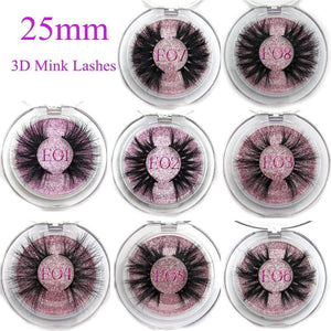 Oiko Store  Mikiwi 25mm False Eyelashes Wholesale Thick Strip 25mm 3D Mink Lashes Custom Packaging Label Makeup Dramatic Long Mink Lashes