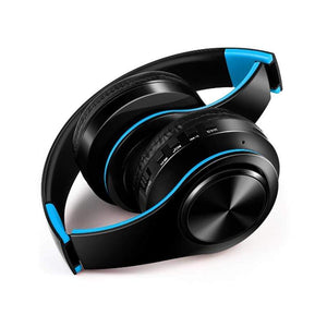 Oiko Store  New Portable Wireless Headphones Bluetooth Stereo Foldable Headset Audio Mp3 Adjustable Earphones with Mic for Music
