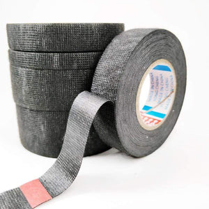 Oiko Store  New Tesa Type Coroplast Adhesive Cloth Tape For Cable Harness Wiring Loom  Width 9/15/19/25/32MM Length15M