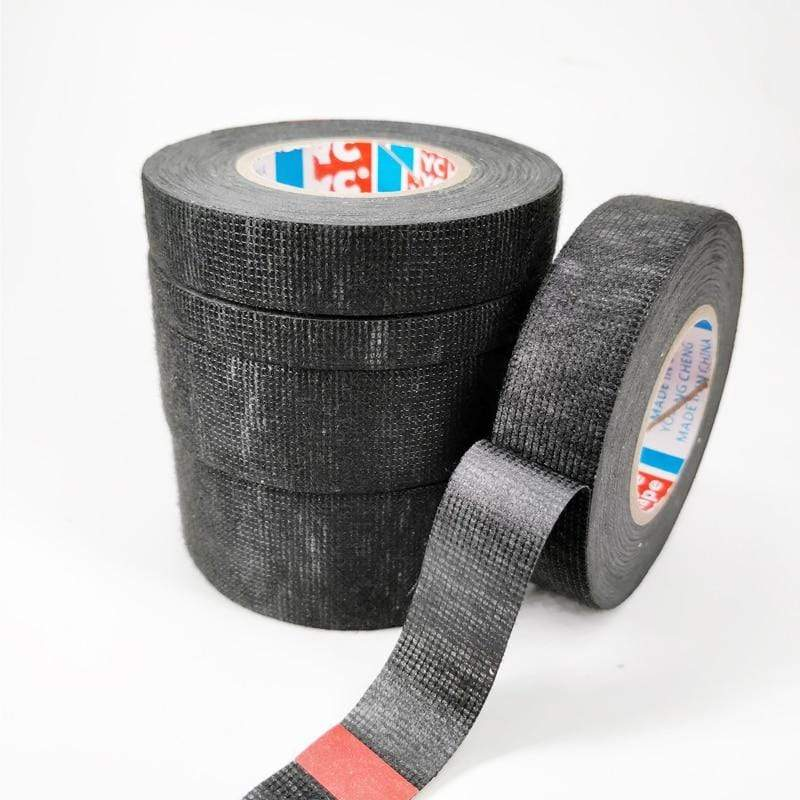 4 Rolls TESA Cloth Tape Adhesive Looms Wire Harness 19mm*15m Black For Car Auto