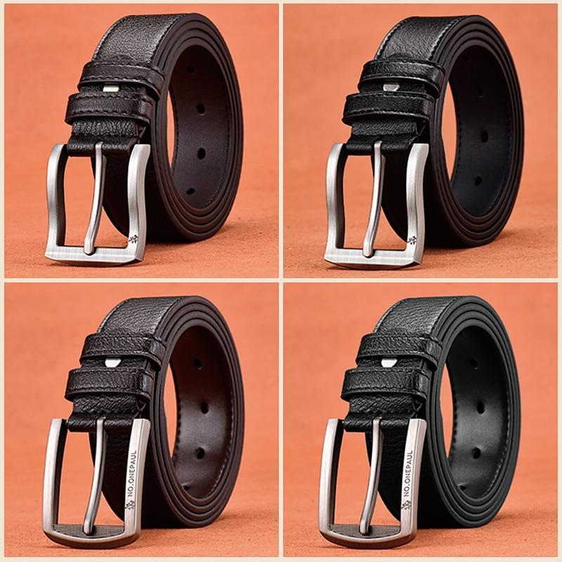 Fashion Belt for Men High Quality Genuine Leather Casual Vintage Pin Buckle Belt