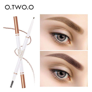Oiko Store  O.TWO.O Eyebrow Pencil Waterproof Natural Long Lasting Ultra Fine 1.5mm Eye Brow Tint Cosmetics Brown Color Brows Make Up