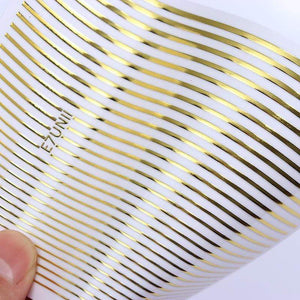 Oiko Store  pattern 1 Gold 3D Nail Sticker Curve Stripe Lines Nails Stickers Gradient Adhesive Striping Tape Nail Foil Nail Art Stickers Decals Silver