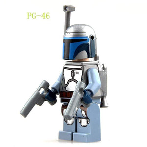 Oiko Store  PG-46 Without Box Building Blocks Wars Bricks Darth Vader Yoda Rey PoE Dameron Mandalorian Jango Fett Drabatan Figures For Children Toys KF6111