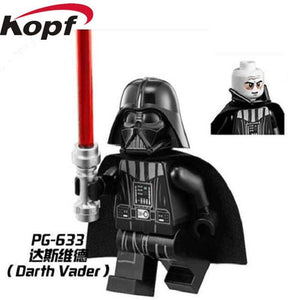 Oiko Store  PG633 Without Box Building Blocks Wars Bricks Darth Vader Yoda Rey PoE Dameron Mandalorian Jango Fett Drabatan Figures For Children Toys KF6111