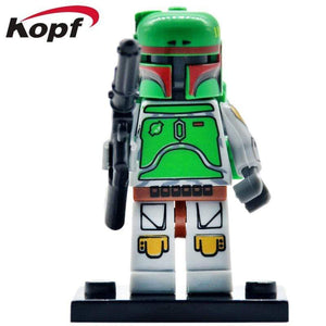 Oiko Store  PG640 Without Box Building Blocks Wars Bricks Darth Vader Yoda Rey PoE Dameron Mandalorian Jango Fett Drabatan Figures For Children Toys KF6111