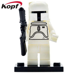 Oiko Store  PG642 Without Box Building Blocks Wars Bricks Darth Vader Yoda Rey PoE Dameron Mandalorian Jango Fett Drabatan Figures For Children Toys KF6111