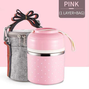 Oiko Store  Pink 1 With Bag FOODYBOX - LIMITED EDITION LUNCH BOX