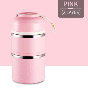 Oiko Store  Pink 2 Layer FOODYBOX - LIMITED EDITION LUNCH BOX