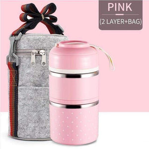Oiko Store  Pink 2 With Bag FOODYBOX - LIMITED EDITION LUNCH BOX