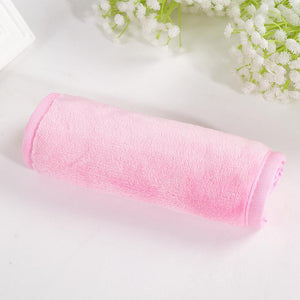 Oiko Store  Pink-Box Women Soft Reusable Face Cleaning Microfiber Towel Makeup Remove Pad Cloth Face Towels Beauty Tools Bath Towel Product