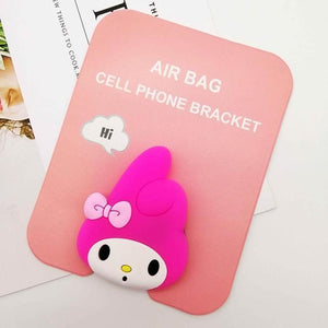 Oiko Store  Pink rabbit Wholesale Socket Universal Mobile Phone Stretch Bracket Cartoon Air Bag Phone Expanding Phone Stand Finger Car Phone Holder