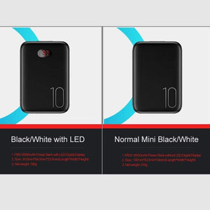 Oiko Store  Power Bank for xiaomi mi iPhone,USAMS Mini Pover Bank 10000mAh LED Display Powerbank External Battery Poverbank  Fast charging