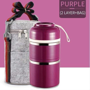 Oiko Store  Purple 2 With Bag FOODYBOX - LIMITED EDITION LUNCH BOX