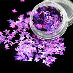 Oiko Store  Purple Butterfly KM GLITTER Top Popular Best Sales Chunky Mixed Fairy Face Body Craft Rose Sequins Manicure Rose Gold Glitter for Nail Decoration