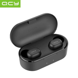Oiko Store  QCY QS2 TWS Bluetooth V5.0 Headphones 3D Stereo Sports Wireless Earphones with Dual Microphone