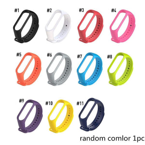 Oiko Store  random color 1pc 11colors New Replacement Silicone Wrist Strap Watch Band For Xiaomi MI Band 4 3 Smart Bracelet New Watch Strap Smart Accessories